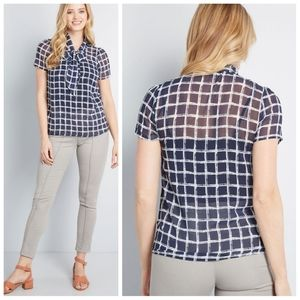 NWT MODCLOTH profesh connection short sleeve top
